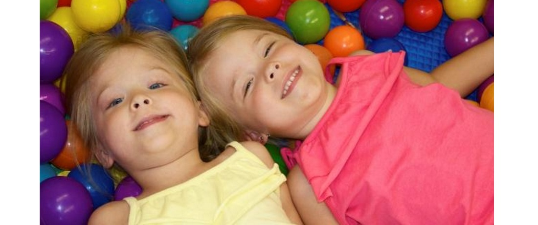 Physical Therapy ball pit with two sweeties